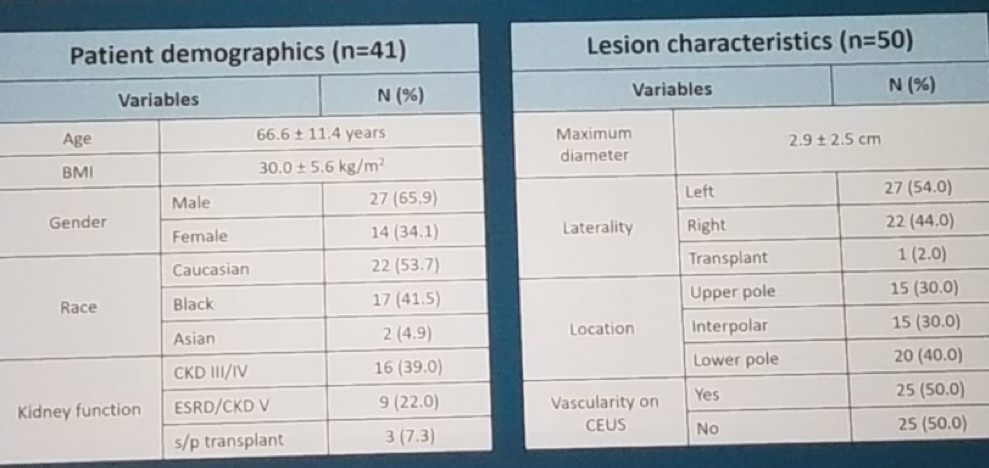 AUA 2019: Improved Detection of Indeterminate Renal Mass Vascularity