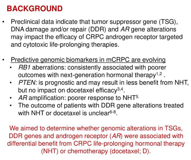 ASCO 2019: Genomic Predictors of Benefit of Docetaxel and