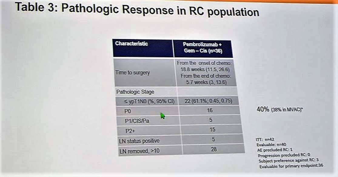 ESMO 2018 pathologic response in RC population