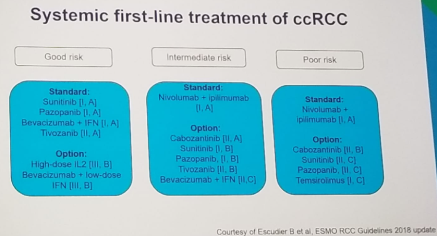 UroToday ESMO2018 ESMO guidelines for metastatic Renal Cell Cancer