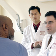 physicians with patient