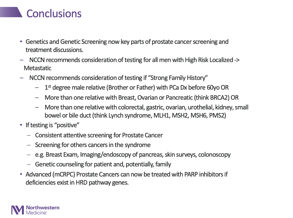 genetic screening in prostate cancer