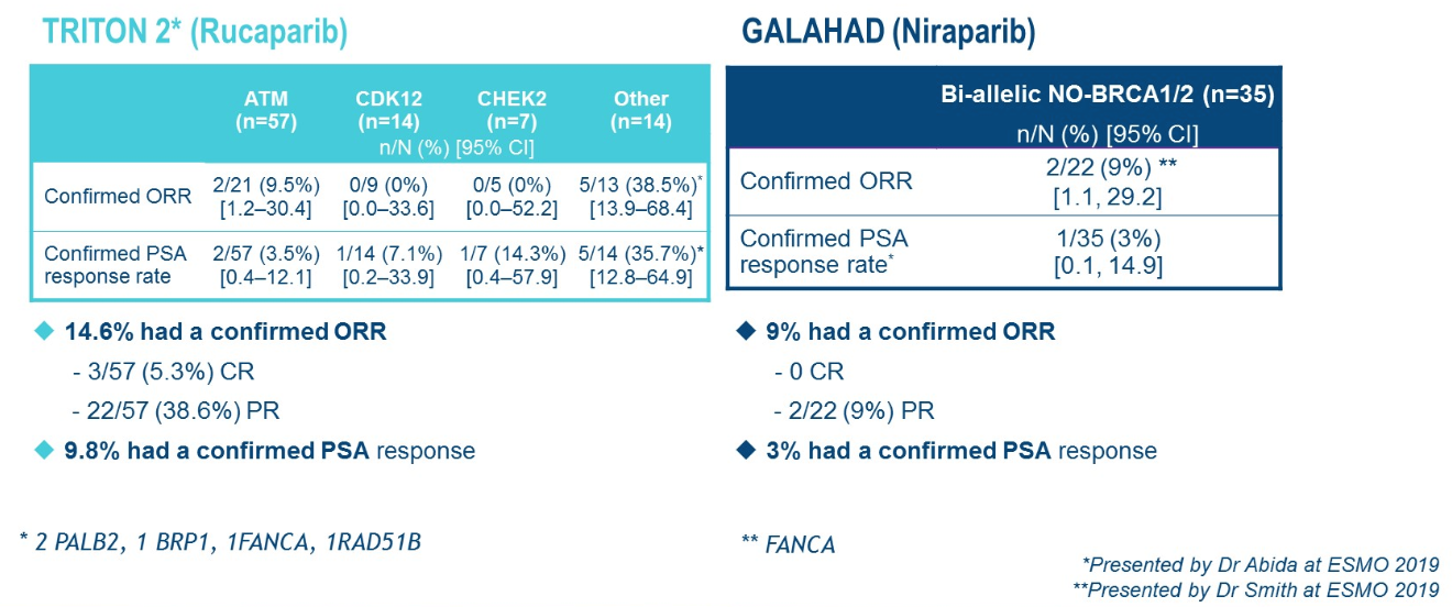 response to parp inhibitors