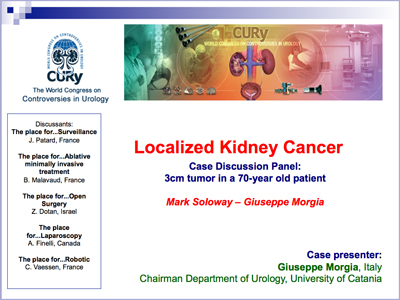 Cury 2011 Localized Kidney Cancer Case Discussion Panel 3cm Tumor In A 70 Year Old Patient Slide Presentation